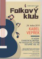 Karel Vepřek ve Folkovém klubu Vlašim