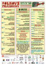 Folkové prázdniny - podrobný program
