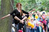 ...z nedělního divadelního dne - provazochodkyně Kiki, alias Pippi dlouhá punčocha