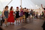Jeden z mnoha workshopů byl i taneční, do kterého se mohl přihlásit kdokoliv. V závěru festivalu nám členové kurzu předvedli, co se za ten týden naučili.