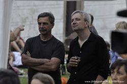 Hlavní pořadatel Pavel Jarčevský a Honza Žamboch jsou jako diváci pozorní