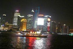 A na závěr ještě podhled na noční Shanghai