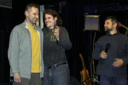 Cena pořadatele byla udělena zvukařům Zdeňku Holoubkovi a Vladimíru Daňkovi. Zaslouženě, letos se opravdu zvuk vydařil o poznání lépe, než minulé roky.