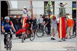 Start cyklozávodu Okolo Třeboně