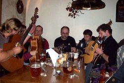 A závěrečný jam session v přilehlé hospůdce