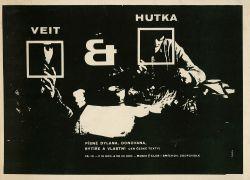Plakát  prvního koncertu Veit & Hutka