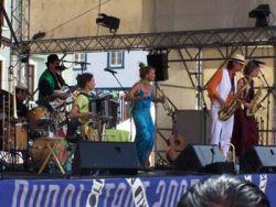 Domácích mezi oficiálními kapelami festivalu taky moc nebylo. Třeba Brassberries; jenže to vlastně byla spíš v Hannoveru usazená mezinárodní kapela hrající ponejvíc hybnou muziku vycházející z anglického folklóru.