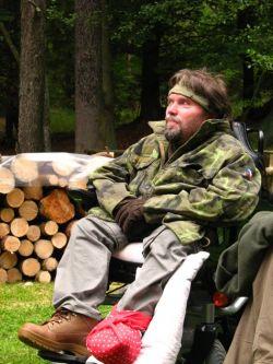 Mirek Valina na Trapsavci v roce 2008