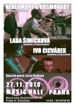 Plakát na pražský koncert
