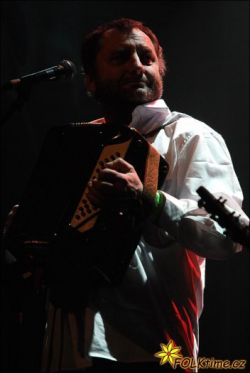 Václav Koubek při vystoupení v Lucerně