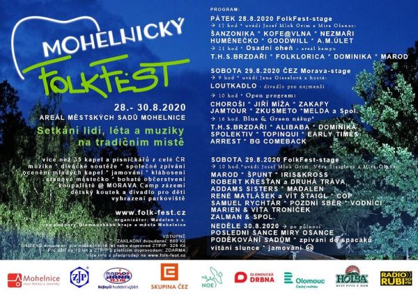 Program Mohelnického FolkFestu