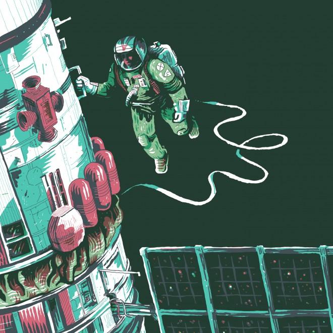 nevermore  kosmonaut grafika