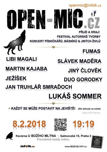 2018 02 08 open mic u boziho mlyna